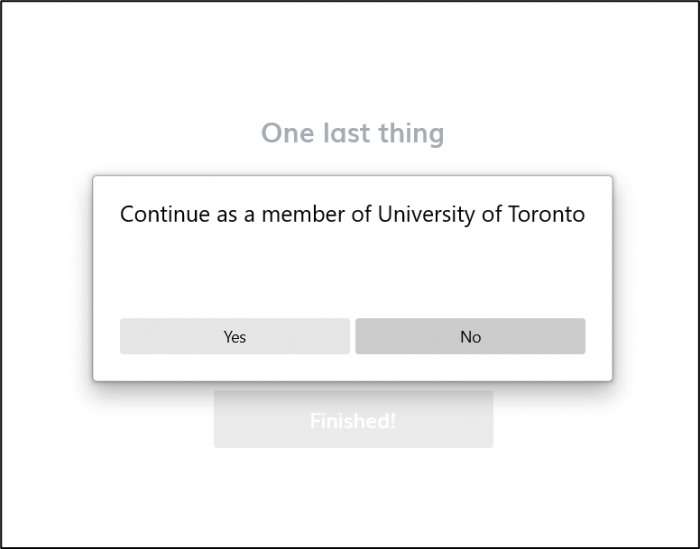 Screenshot of UofT confirmation page on nKoda